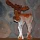 Tin moose sculpture